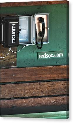 Boston Red Sox Dugout Telephone Canvas Print by Susan Candelario