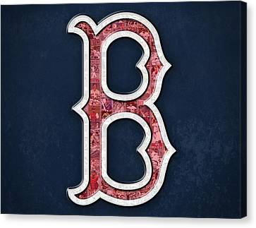 Boston Red Sox Canvas Print by Fairchild Art Studio
