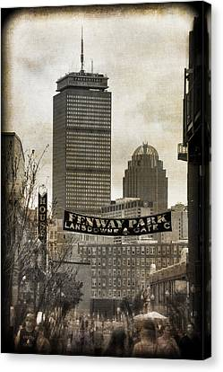 Boston Red Sox - Fenway Park - Lansdowne St. Canvas Print by Joann Vitali