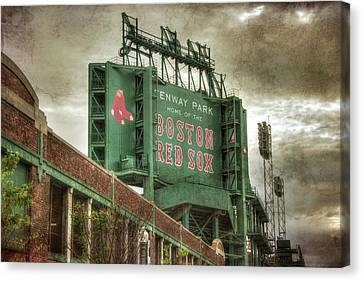 Boston Red Sox Fenway Park Scoreboard Canvas Print