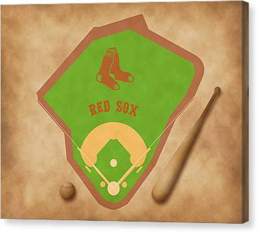 Boston Red Sox Field Canvas Print by Carl Scallop