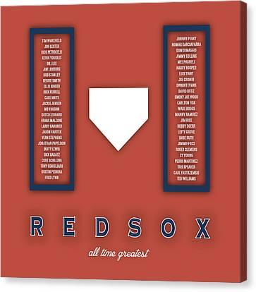 Boston Red Sox Art - Mlb Baseball Wall Print Canvas Print