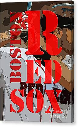 Boston Red Sox Original Typography  Canvas Print