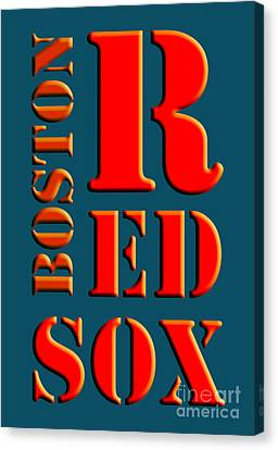 Boston Red Sox Sign Canvas Print
