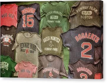 Boston Red Sox Tee Shirts Art Canvas Print by Joann Vitali