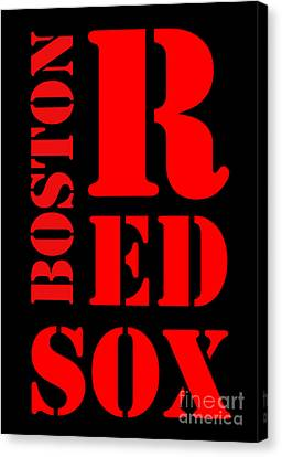 Boston Red Sox Typography Canvas Print