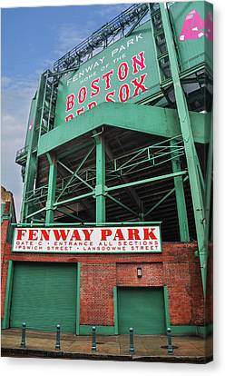 Boston Redsox - Fenway Park Canvas Print by Bill Cannon