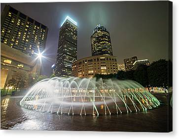 Boston Reflecting Pool Fountain Boston Ma Canvas Print by Toby McGuire