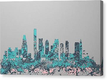 Boston Skyline 1c Canvas Print