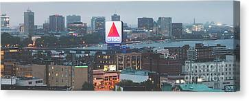 Fenway Canvas Print - Boston Skyline Aerial Panorama Photo by Paul Velgos