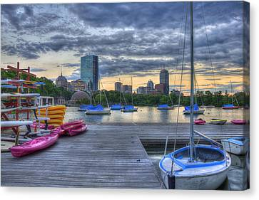 Charles River Canvas Print - Boston Skyline At Sunset by Joann Vitali