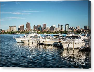Charles River Canvas Print - Boston Skyline Charles River Boats Photo by Paul Velgos