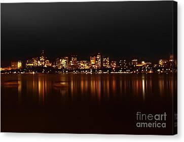 Boston Skyline Canvas Print by Frank Garciarubio