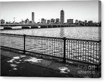 Boston Skyline Harvard Bridge Back Bay Photo Canvas Print