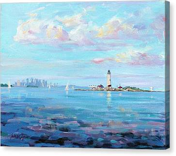Boston Skyline Canvas Print by Laura Lee Zanghetti