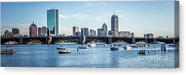 Boston Skyline Longfellow Bridge Panorama Photo Canvas Print