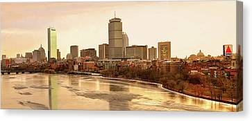 Boston Skyline On A December Morning Canvas Print