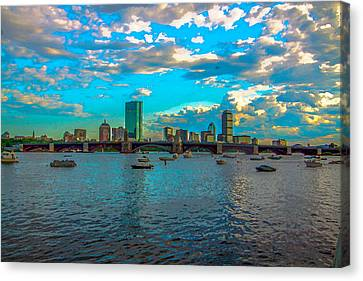 Boston Skyline Painting Effect Canvas Print by Brian MacLean
