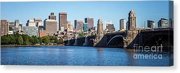 Boston Skyline Panorama With Longfellow Bridge Canvas Print