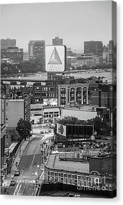 Charles River Canvas Print - Boston Skyline Photo With The Citgo Sign by Paul Velgos