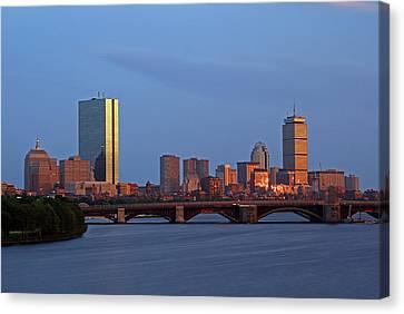 Boston Skyline Sunset Canvas Print by Juergen Roth