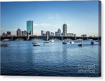 Boston Skyline With The Longfellow Bridge Canvas Print