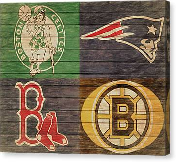 Boston Red Sox Canvas Print - Boston Sports Teams Barn Door by Dan Sproul