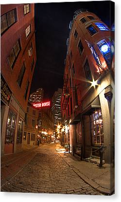 Boston Street Canvas Print by Joshua Ball