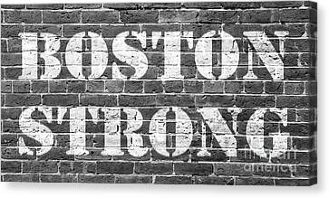 Boston Strong Canvas Print by Edward Fielding