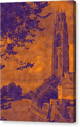 St Botolph St Canvas Print - Boston Stump - Old Style by Dave Parrott