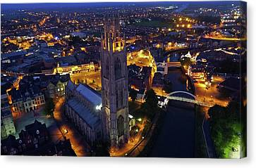 Boston Stump At Night Canvas Print by TheDroneMan Net