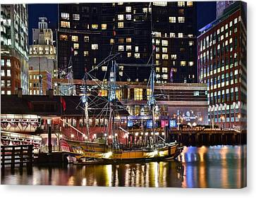 Boston Tea Party Canvas Print by Frozen in Time Fine Art Photography