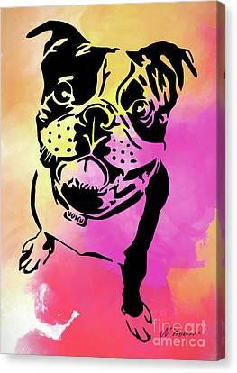Boston Terrier Art By Nikki And Kaye Menner Canvas Print