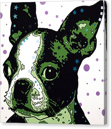 Boston Terrier Puppy Canvas Print by Dean Russo