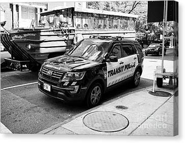 boston transit police ford interceptor suv patrol vehicle Boston USA Canvas Print