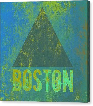 Boston Triangle V2 Canvas Print by Brandi Fitzgerald