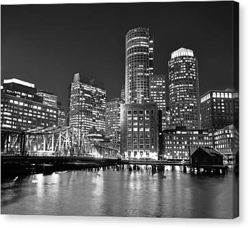 Charles River Canvas Print - Boston Waterfront Black And White by Toby McGuire