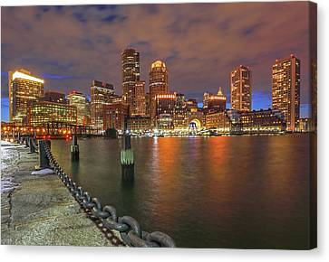 Boston Waterfront District Canvas Print by Juergen Roth