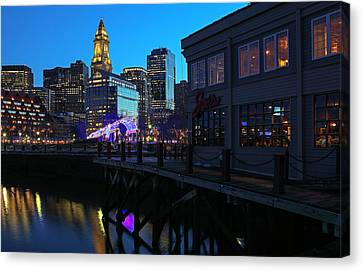 Boston Waterfront Canvas Print by Juergen Roth