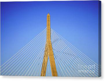 Boston Zakim Bunker Hill Bridge Photo Canvas Print