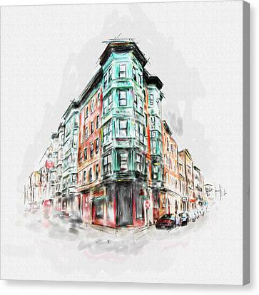 Bostons North End 222 1 Canvas Print by Mawra Tahreem