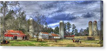 Boswell Farm Greene County Georgia Canvas Print by Reid Callaway
