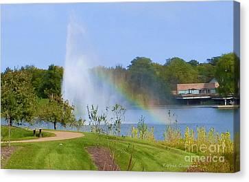 Botanic Rainbow Canvas Print