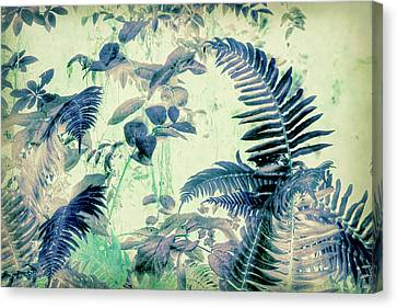 Canvas Print featuring the mixed media Botanical Art - Fern by Bonnie Bruno