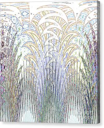 Botanical Fantasy Canvas Print by Ann Johndro-Collins