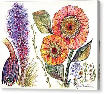 Botanical Flower-49 Canvas Print by Julie Richman