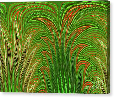 Botanical Tapestry Canvas Print by Ann Johndro-Collins