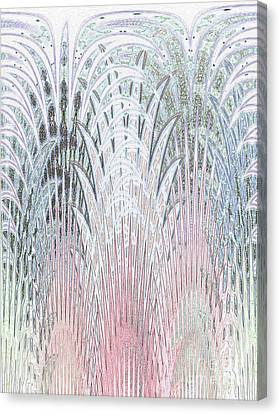 Botanical Weave Canvas Print by Ann Johndro-Collins