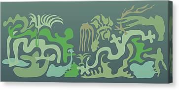 Botaniscribble Canvas Print by Kevin McLaughlin