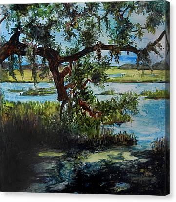 Botany Bay Summer Marsh Canvas Print by Trish McKinney